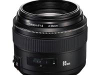 永诺正式推出85mm f/1.8 才卖1200元