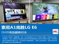 OLED电视巅峰对决 索尼A1完胜LG E6