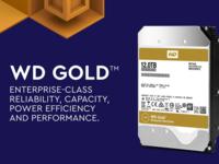 西数发布首款自主12TB硬盘 WD Gold企业金盘