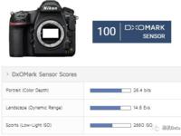 135画质新王加冕 DXO公布尼康D850跑分