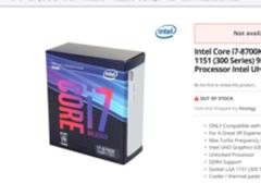 你还嫌贵?Intel 8代酷睿有钱都买不到