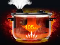 美的PHT5087PG食神电压力锅 快速煲汤也香浓