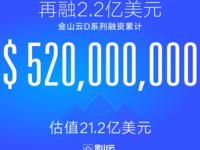 再融2.2亿美元 雷军旗下金山云D系5.2亿美元