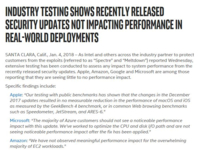 业界大佬纷纷声援Intel 漏洞更新未降低性能