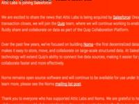 Salesforce收购数据库创业公司Attic Labs