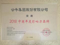 """公牛集团获""""2018中国年度影响力品牌""""大奖"""