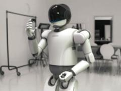 现实版钢铁侠 双足机器人空降零一科技节